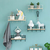 Wall Mounted Storage Rack Holder Shelves Hook Hanging Creative Home Bedrooms