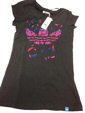 Adidas Originals Trefoil Graph T-Shirt, schwarz - B-Ware  Damen Shirt Gr. 32