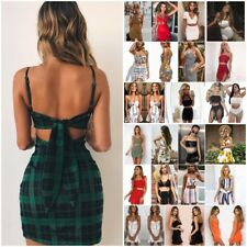 Women Off-shoulder Crop Top & Mini Dress Bodycon Party Skirt Set Two-piece