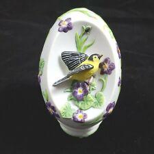 Lenox Collectors' Society Special Edition Goldfinch Collector Egg Bird Easter