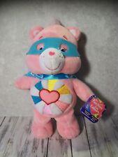 """Care Bears - Superhero Friends, Hopeful Heart Bear, 8"""", Gently Used w/Tag"""
