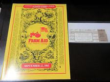 Farm Aid US Tour Book w Ticket Stub Concert Program Bob Dylan Tom Petty Lou Reed