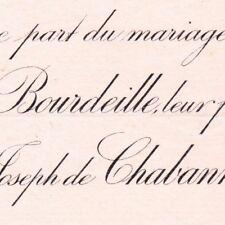 Claire Antoinette De Bourdeille Paris 1892 Vicomte Joseph Antoine De Chabannes