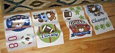 KIDSLINE ANIMAL SPORTS ALL STARS WALL DECOR STICKER DECAL APPLIQUE REMOVABLE NEW