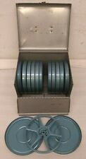 Lot of 12 8mm Reels with Metal Case