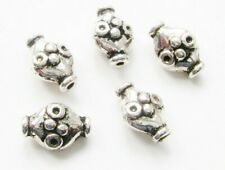 Metallperlen Zwischenperlen oval 7,5x11mm 20 Stück SERJOSY
