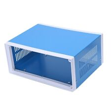 "9.8"" x 7.5"" x 4.3"" Blue Metal Enclosure Project Case DIY Junction Box X5C7"
