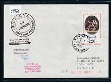 04566) Antarktis FRankreich Reunion 14.8.89. L'Astrolabe.., signed