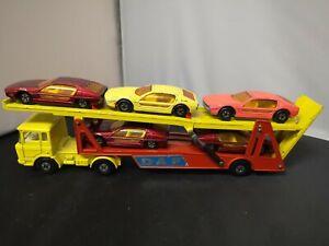 P765-MATCHBOX SUPERKINGS K-11 DAF CAR TRANSPORTER AND FIVE LAMBORGHINI MARZALS