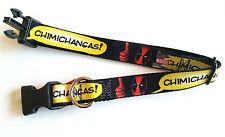 DEADPOOL Thumbs up Chimichangas Marvel Adjustable Dog Buckle Collar 15-24 inch