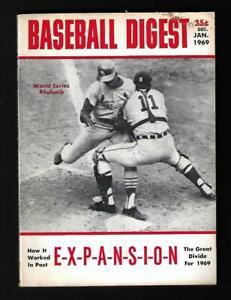1969 Baseball Digest (Jan), Baseball EXPANSION, No Label - EX+++