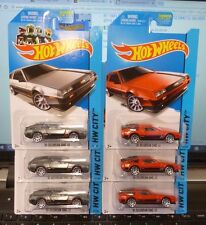 LOT of 6 ( COLOR VARIATION ) 2014 HOT WHEELS - '81 DELOREAN DMC-12 #33