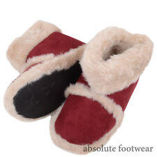 Childrens / Kids / Girls Slip On Boots / Booties / Slippers with Faux Fur Lining