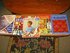 Lot of 5 QUILT Books Patterns, Designs, Ideas, + More HGTV Pot Holders Amish etc