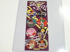 POGS NINTENDO GREATEST GAMES OF ALL TIME RARE COMPLETE SET OF ALL 8 ON CARD