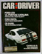 CAR & DRIVER Magazine VINTAGE AUTOMOBILE 1977 JANUARY CAPRI RS FORD