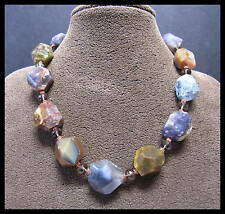 HANDMADE NECKLACE - HUGE FACETED AGATE NUGGET