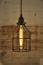Metal Bulb Guard Only Lamp Light Cage Pendant Hanging Industrial Vintage