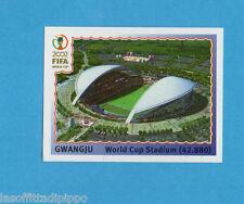 KOREA/JAPAN 2002-PANINI-Figurina n.9- GWANGJU WORLD CUP STADIUM -NEW BLUE BACK