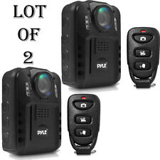 2) Pyle Compact Portable 1080p HD Infrared NightVision Police Body Camera PPBCM9