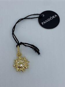 SPARKLING SUN Genuine PANDORA SHINE 18K GOLD Plated PENDANT Charm 368793C01 NEW