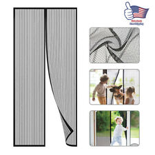 "Magnetic Magic Screen Door Mesh Curtain Durable Hand Free Mosquito Net 39""x83"""