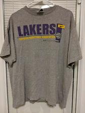 Lakers National Basketball Association XXL 2XL Gray T Shirt Tee Nike Team **READ