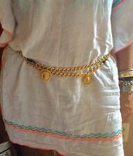 Gold Chain Belt W Lions By Karynjamiedesigns-New