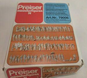 VTG Original Preiser N Art. NR. 79006 Germany Miniature Figures Unpainted 1:160