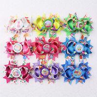 "9 colors 1pc 4"" Toddler Girl baby gift Hair bow grosgrain Bottle cap 2005B-1-9 Y"