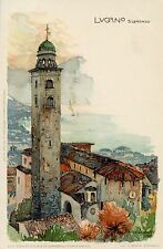 CARTE POSTALE / POSTCARD / ILLUSTRATEUR / ITALIA / ITALIE / LUGANO S . LORENZO
