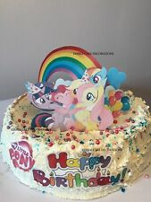 MY LITTLE PONY SCENE STAND UP  Cake Topper Edible Rice Paper Decoration Party