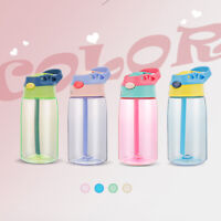 Portable Travel Drinking Cup With Straw Kids Children Leak Proof Water Bottle BR