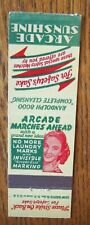 GIRLIE LADY: ARCADE SUNSHINE LAUNDRY PRODUCTS MATCHBOOK MATCHCOVER -E14