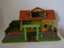 Antique German Hand Made Wood Toy Horse Stall Barn #^