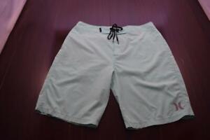 Hurley Phantom Board Shorts Light Blue Stretch Athletic Water Swim Mens Size 30