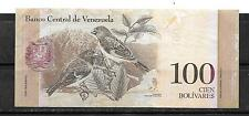VENEZUELA 2012 100 BOLIVARES VF USED NEW BANKNOTE PAPER MONEY BILL NOTE