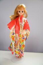 > Vintage Takara Doll Jenny Kimono Peacock Barbie Japan 1981 Licca Blonde Hair