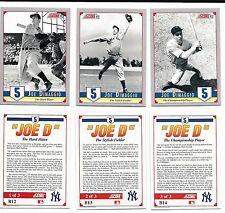 Joe Dimaggio 1992 Score Factory Set Insert Set 3 card set B12 B13 B14