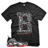"New ""B"" BLESSED T Shirt for Nike Foamposite Snakeskin Habanero"