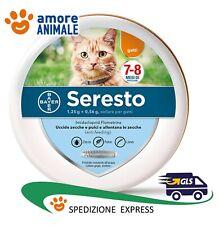Seresto Bayer - Collare Antiparassitario gatto Antipulci e Antizecche per gatti