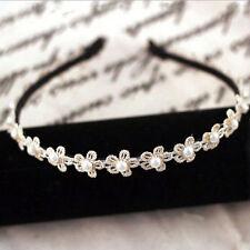 pour filles et Femmes perle dentelle blanche fleur Serre-tête bandeau doux