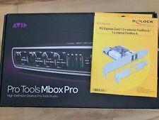Avid Mbox 3 Pro FireWire Audio Interface inkl. Delock PCIe Firewire Karte