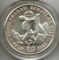 Turquia 3000 Lira 1981 @ Año personas disminuidas @ Sin circular @