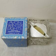Vintage Avon Winter Lights Moonwind Fragrance Candlette Candle and Holder