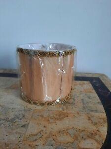New Small Gold Goldish? Small Clip On Lamp Shade
