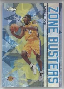 KOBE BRYANT 2003 TOPPS CHROME BASKETBALL ZONE BUSTERS REFRACTOR LAKERS HOF