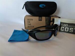 New Costa del Mar Man O War Polarized Sunglasses Black/Green 580G Glass Rare