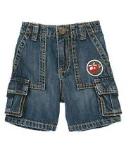 Gymboree NWT Rescue Team Helicopter Patch Denim Cargo Short Size 2T