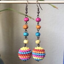 Handmade Earrings boho colorful dangling earrings for any Occassion or gift